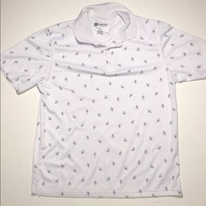 White Polo Haggar Shirt